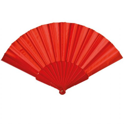Fabric Fan Red Mask Party Favor